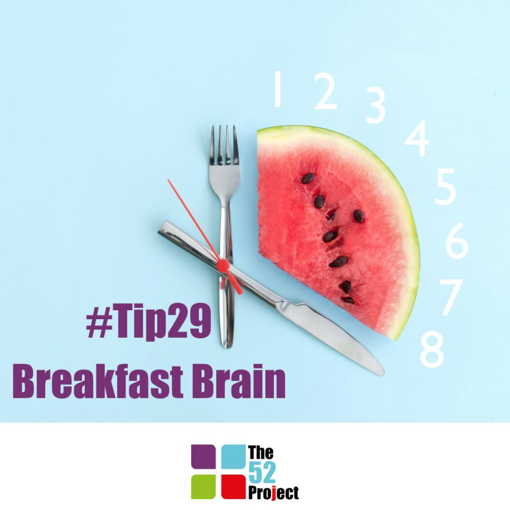 breakfast brain, breakfast, intermittant fasting, katie maycock, the 52 project, tip 31